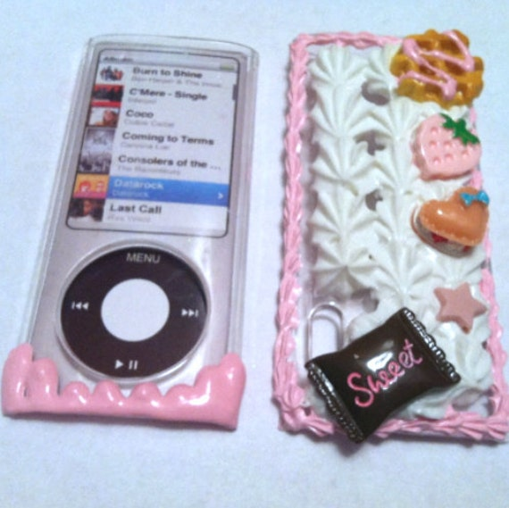 Pink Candyland iPod Nano 5th 5 Generation Decoden Skin Case