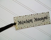 Paper Bookmark / Mischief Managed / Harry Potter