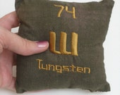 Tungsten Chemistry Periodic Table of Elements Pillow