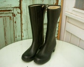 Vintage - Rubber Rain Boots - Women 6 or 6.5