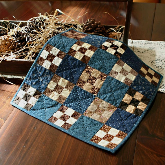 Blue & Brown 9 Patch