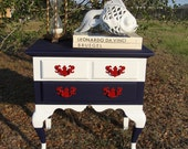 Reserved for Kinsey Queen Anne Nautical Nightstand