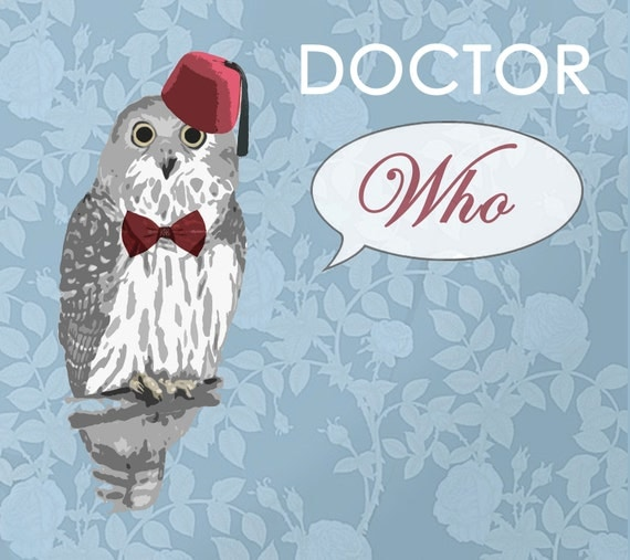 Doctor Who Owl Poster / Quirky Print