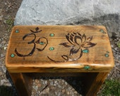 Lotus Seat,  Reclaimed Wood meditation bench table altar nightstand  You decide