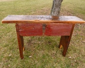 Reclaimed Barn Wood Bench great for a mud room or a bedroom barnwood 1