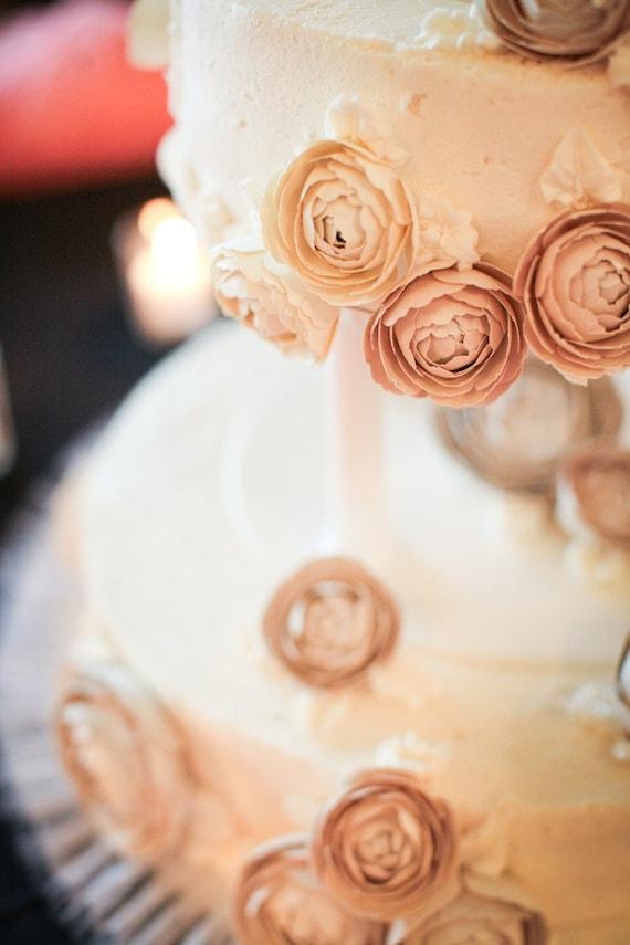 Paper Cake Flowers Template- DIY