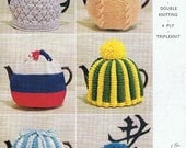 1960s Retro Tea Cosy Pattern 6 Knitting Patterns Tea Cozy PDF SIX Patterns (T153) Vintage