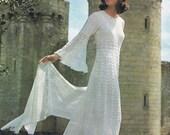Enchanting Wedding Dress Crochet Pattern Vintage Pattern PDF (T170) Instant Download