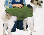Dog Coat Crochet Pattern PDF Vintage (T188) INSTANT Download