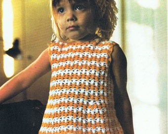 Girls Dress Crochet Pattern with Matching Headscarf PDF Pattern (T202)