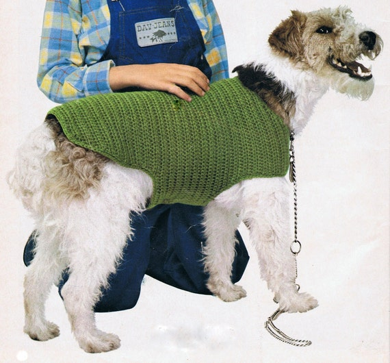 dog coat template - dog coat crochet pattern pdf vintage t188 instant download