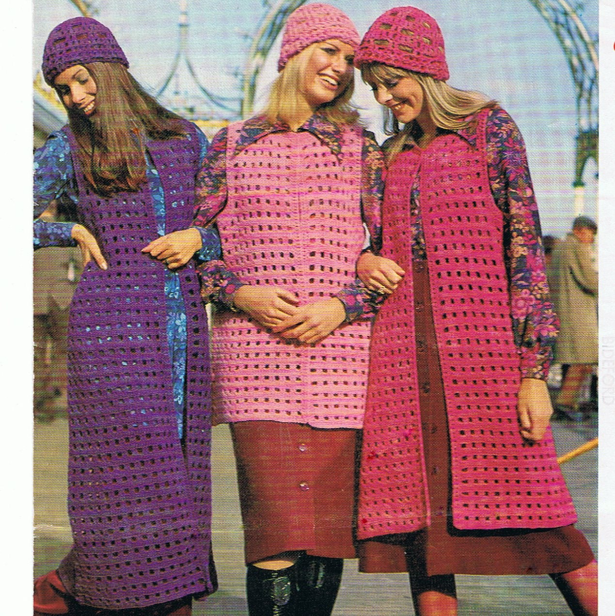 My Instant Offer >> Retro 1970s Waistcoat and Hat Crochet Pattern PDF in 3