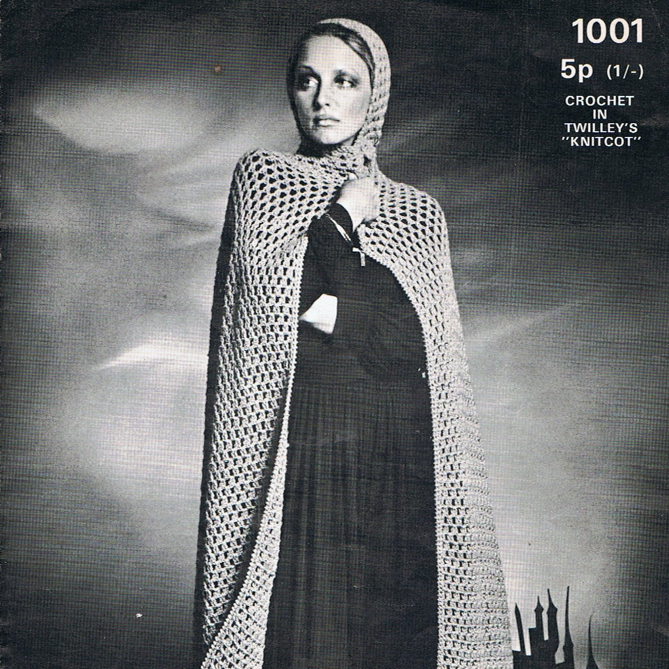 Dramatic cape cloak crochet pattern vintage 1970s pdf pattern zoom bankloansurffo Choice Image