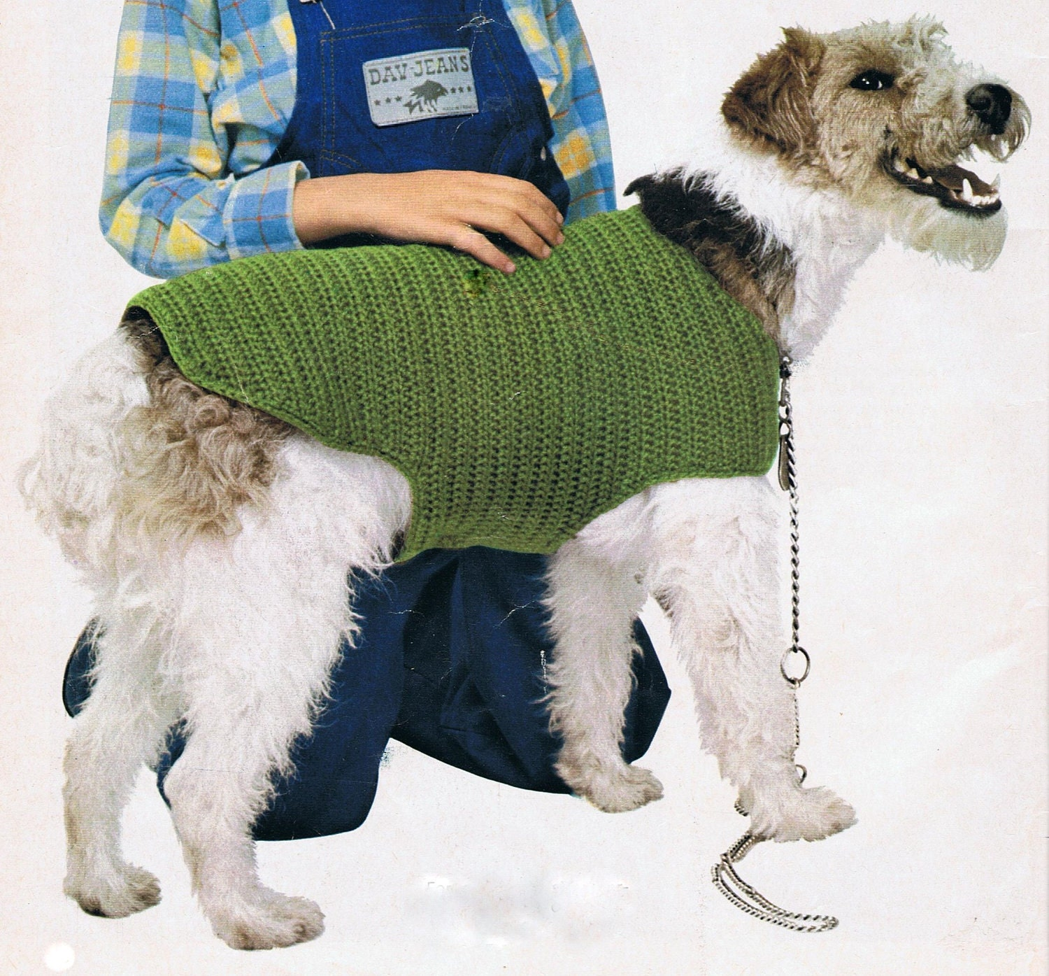Knitting Pattern For Dog Coat Large : Dog Coat Crochet Pattern PDF Vintage T188 by HeirloomPatterns