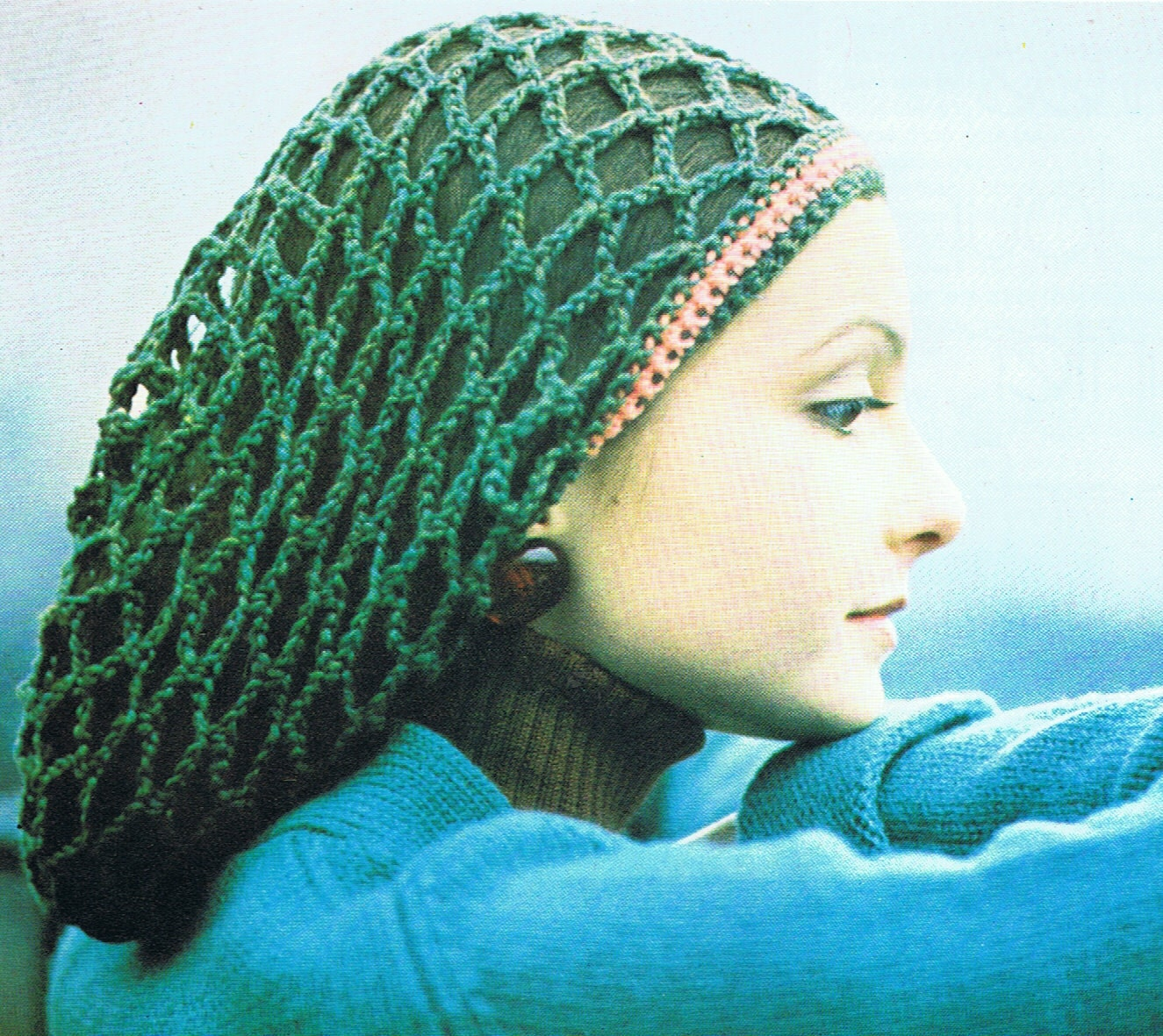 Knitting Pattern For Rasta Hat : Rasta Tam Crochet Pattern PDF T203 Vintage