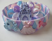 Woven Headband Princess and Loopy Bow  Clippie Combo