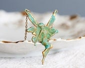 Verdigris Patina Fairy Necklace - N089