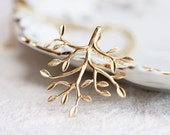 Tree of Life Necklace Gold Leafy Tree Nature Garden - N135