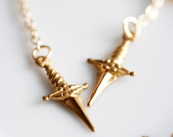 Arrow Earrings Raw Brass Arrow Charm Chain Earrings - E031
