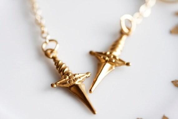 Arrow Earrings Raw Brass Arrow Charm Chain Earrings - E031