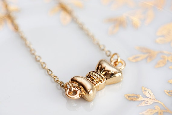 Gold Bow Necklace Gold Filled Chain Tiny Bow tie Necklace Petite Gold Bow Jewelry - N126