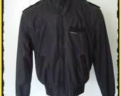 Vintage Black Members Only Racer Cafe Jacket sz. 46