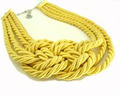 Bright Yellow Sailor's Knot Necklace