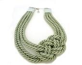 Sage Green Nautical Sailor's Knot Necklace