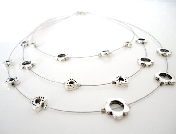 Multi-strandFrame Bead Illusion Necklace