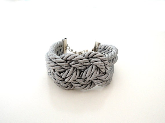 Silver Grey Nautical Sailor's Knot Bracelet