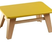 Kids Eco Large Stool Chair (Yellow/Green)