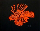 Lion fish Paper Cut 8x10