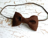 Brown Felt Bow Headband Baby Girl Photography Props Winter Accessories