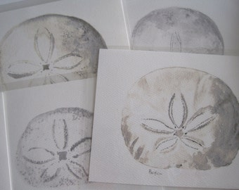 SANDDOLLAR POSTCARDS Watercolor Prints Variety Pack Coastal Living Sea Cottage Beach House Seaside Style Seawashed Stationary