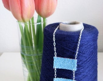 Hand Woven Double Pendant Necklace