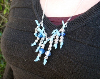 Silver and Blue Re-purposed Necklace