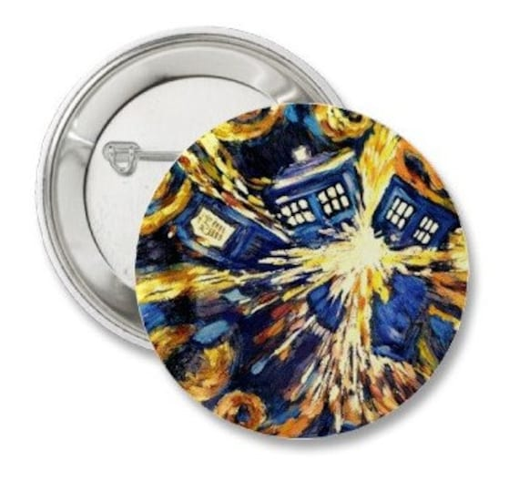 Doctor Who Van Gogh Button