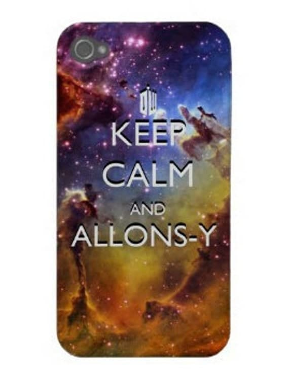 Keep Calm and Allons-y Space iPhone 4 Case