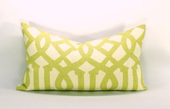 Kelly Wearstler Imperial Trellis pillow cover in Citrine - 12 x 20
