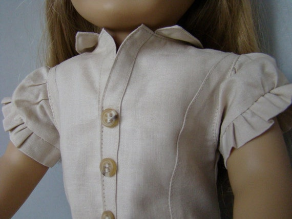 Australian Outback ruffled dress for American Girl Doll or 18 inch dolls.