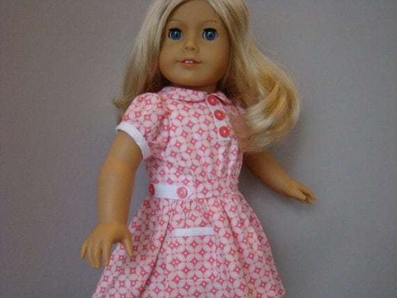 1930s style dress for American Girl or similar 18 inch dolls.