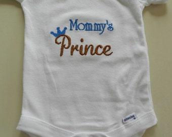 Mommy's Prince Onesie sizes newborn - 24 months