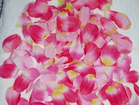 200 Silk Rose Petals PINK MIX Wedding Flower Decorations Party Decorations Bridal