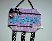 Custom Personalized Wooden Hair Bow Holder Wall Hanger