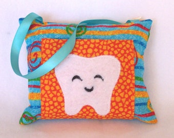 Teal Swirl Tooth Fairy Pillow