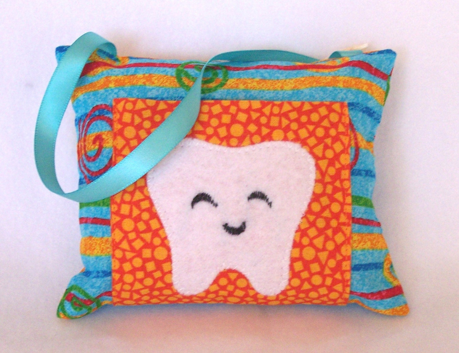 Teal Swirl Tooth Fairy Pillow by My3SillyMonkeys on Etsy