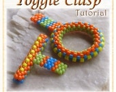 Toggle ClaspTutorial: Beaded Ring and Bar with flat and circular Peyote stitch - Digital Download PDF