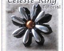 Beaded Ring Tutorial: Celeste Flower Ring - Instant Download PDF