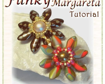 Flower Pendant Tutorial: Funky Margareta (Instant Download PDF)