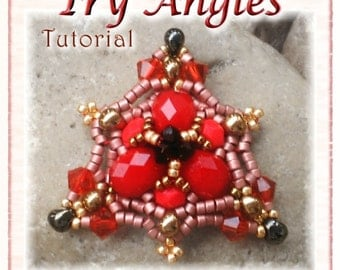 Pendant Tutorial - Instant Download PDF - Try Angles: triangle shaped beaded pendant